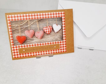 Christmas cards set of 10 red & power series - see pictures (cards no. 26) - corresponds to a unit price of 2.50 Euro