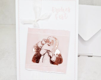 Christmas cards to choose from Pink, white and rose gold foiled (Cards No.13-15)