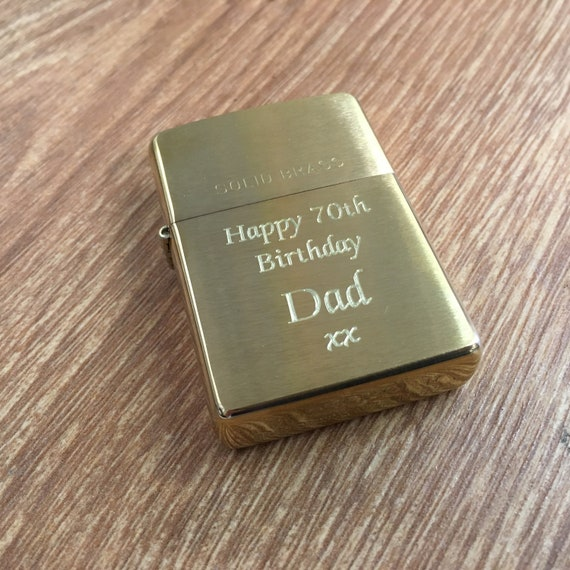 PERSONALISED ENGRAVED genuine ZIPPO for USHER or BEST MAN No text limit