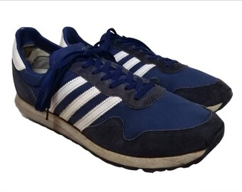 huge discount 64e7b 49012 Rare Vintage 80s ADIDAS MERCURY Athletic Trainers Sneakers Running Shoes  Classic Retro Hip Hop Skate Swag 12 US Size