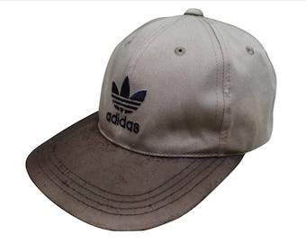 d3d727f82b2 Rare Vintage 90s ADIDAS TREFOIL Big Embroidered Logo Cap Streetwear Hip Hop  Swag Free Size (Adjustable)
