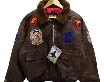 a2cb1bf87 80s aviator jacket | Etsy