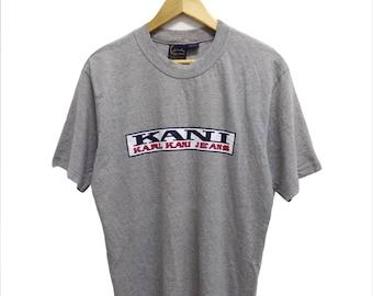 61f73fc3dd6b7 Rare Vintage 90s KARL KANI Big Printed Spell Out T-Shirt Streetwear Hip Hop  Skate Swag Medium Size