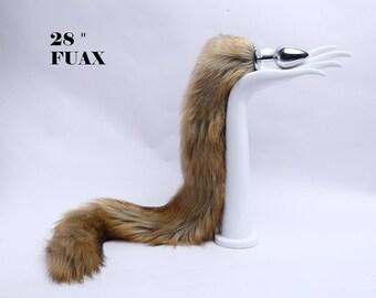 7a19734a2bd Fox tail butt plug-Tail butt plug-Long tail butt plug-Sexy-Couple sex  toys-Faux fur Brown fox tail-Flirting tools-Dildo-Tail plug mature