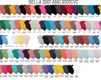 Bella Canvas Blank Cotton T-Shirt for Screenprint ,htv ,vinyl ,embroidery