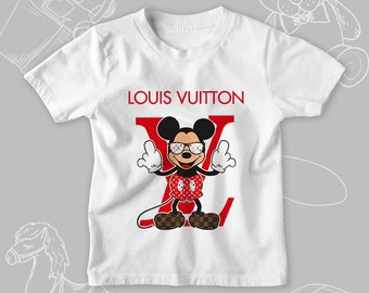 a8c48ddfe827 Fashion white black fashion logo kid s t-shirt inspired by Lois Vuitton