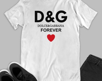 2424228f Forever Dolce and Gabanna inspired Shirt, DG Dolce Gabbana Youth& Unisex T- Shirt