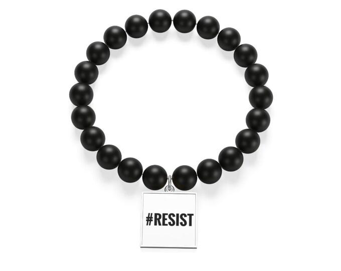 Resist  Matte Onyx Bracelet