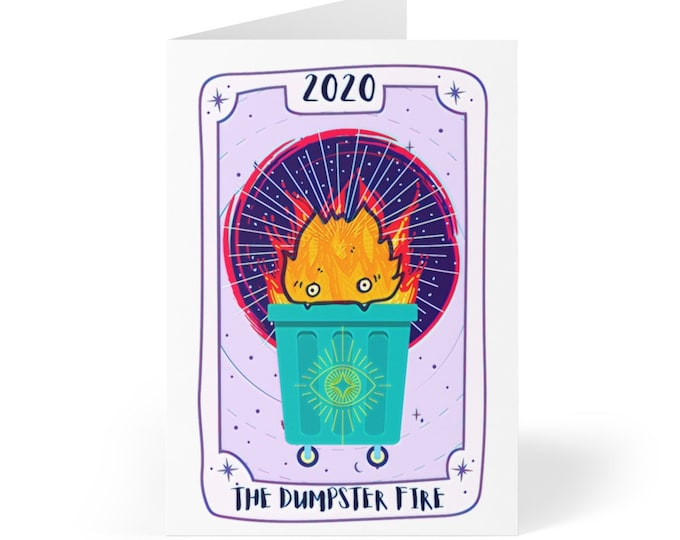 Tarot Dumpster Fire 2020 Greeting Cards (8 pcs)