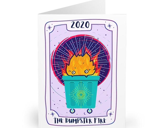 Tarot Dumpster Fire 2020 Greeting Cards (5 pcs)