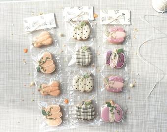 MINI CITROUILLE ENFANT - biscuits personnalisés cadeau décoration maison