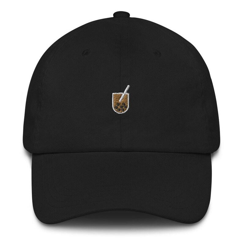 Boba Baseball Hat  Embroidered Black
