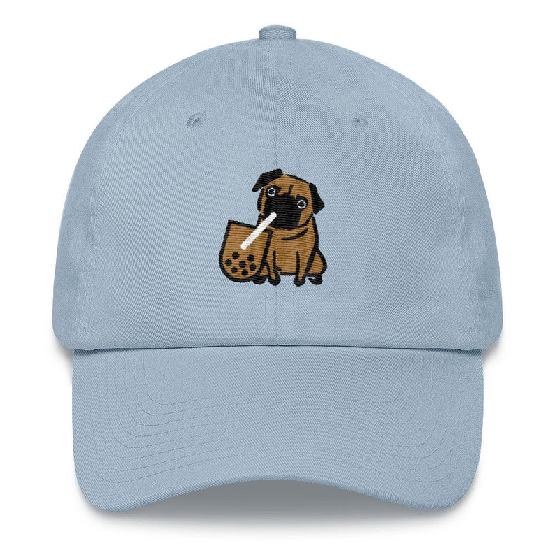 Boba and Pug Baseball Hat  Embroidered image 0