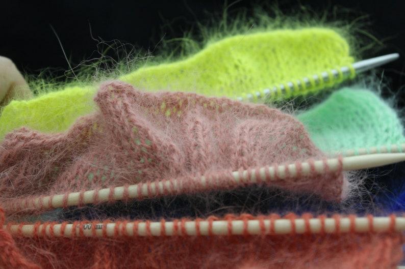 Italian yarn Biagioli Modesto hand knitting rabbit angora Christmas present angora yarn promotion set of 6 balls fluff yarn
