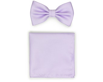 36f3a9be9a58 Sweet Lavender Bow Tie Set | Set of Bow Tie and Matching Pocket Square in  Lavender | Lilac Lavender Purple Mens Bow Tie and Hanky Set