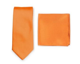 Rusty Brown Tweed Mens Necktie Orange Necktie Burnt Orange Tie