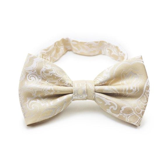 Men Satin Bowtie Classic Wedding Party Bow Tie Solid Color Adjustable Necktie ER