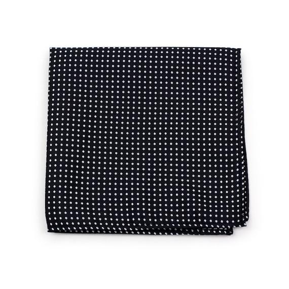 END OF SEASON STOCK Peach and White Polka Dot Pocket Square Handkerchief Hanky