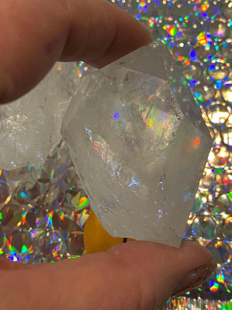From Brazil MEDIUM Clear Quartz Crystal Points-1-12\u201d-2\u201d LOT of 4