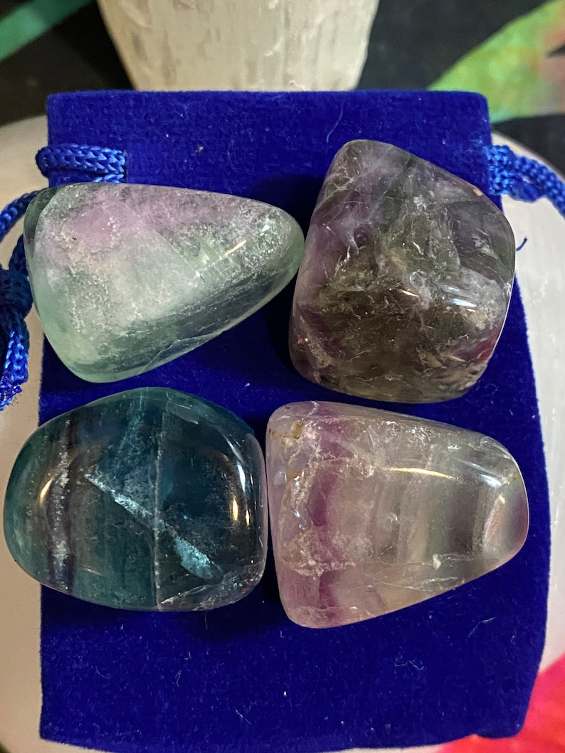 Bacterial issues! FLUORITE Polished set of Helps with Respiratory  and Anti 4