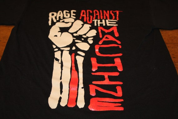 Black Rage Against the Machine Fist T Shirt - Medi