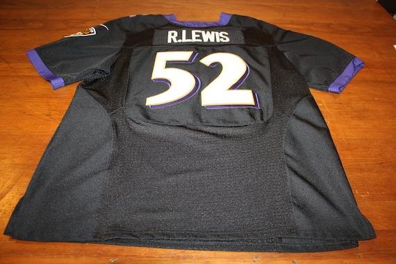 Black Ravens Ray Lewis Super Bowl XLVII Stitched On-Field Jersey 2XL