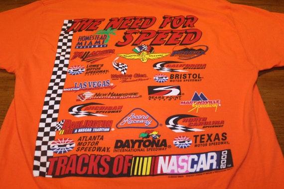 NASCAR T Shirt - Orange - Race Tracks of NASCAR 20