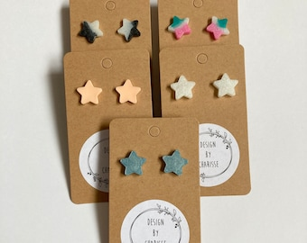 Tiny Star Resin Stud Earrings