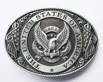 3106f72e4b3c Boucle de ceinture en métal américain Eagle