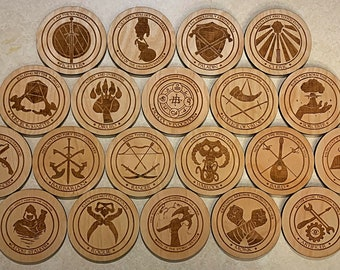 D&D Class and Subclass Coasters