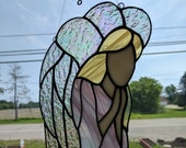 Stained Glass Praying Angel