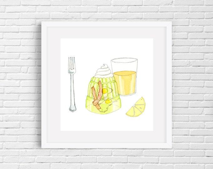 Bacon and Eggs Jello Print | Wall Art