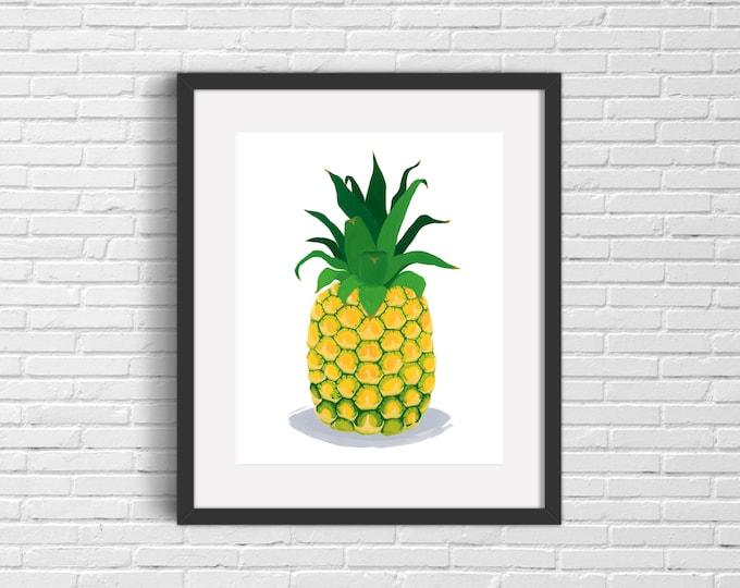 Pineapple Art Print | Wall Art