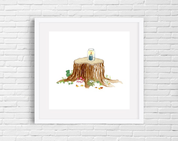 Tree Stump Print | Wall Art
