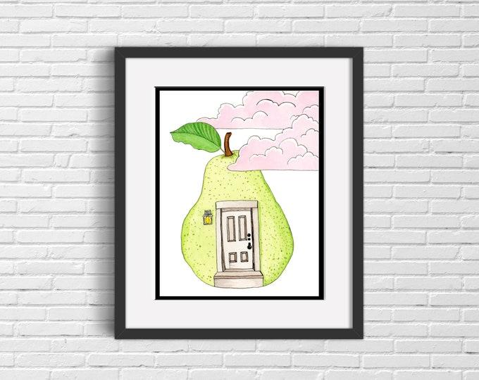Pear Doorway Art Print | Wall Art