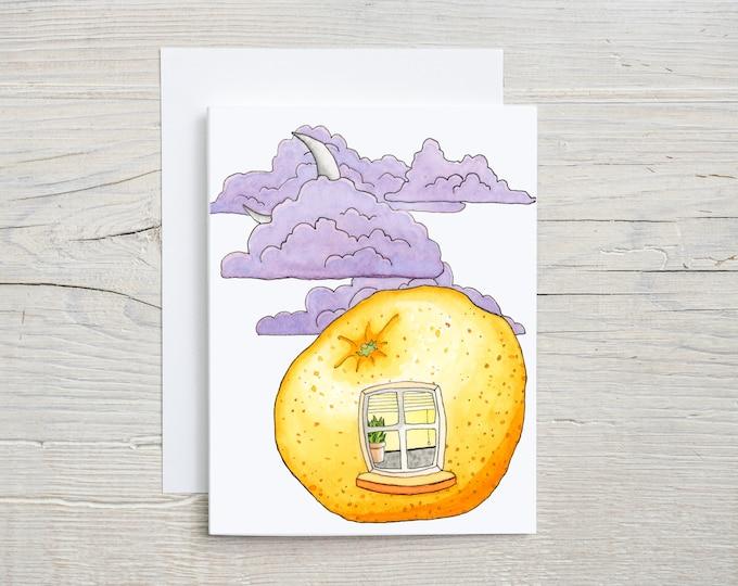 Orange Window Note Card