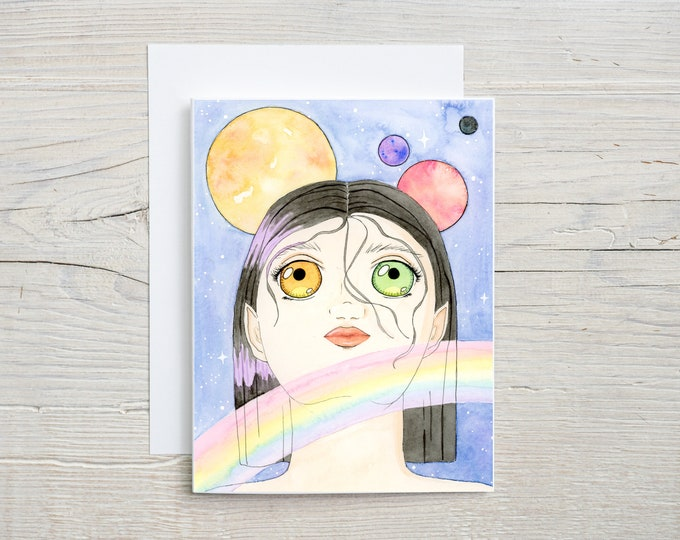 Synth Android Rainbow Note Card