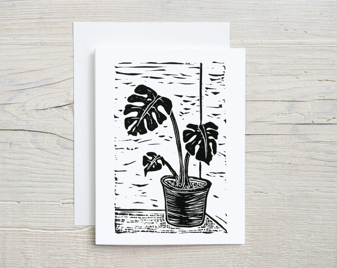 Monstera Plant Note Card