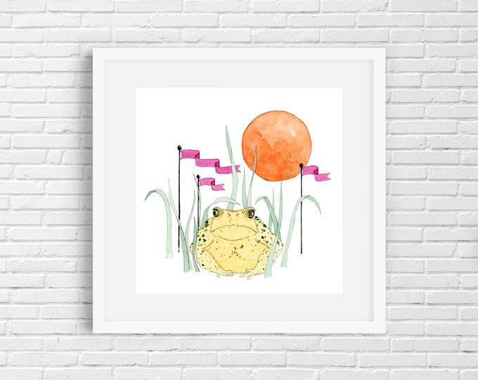 Toad and Moon Print | Wall Art