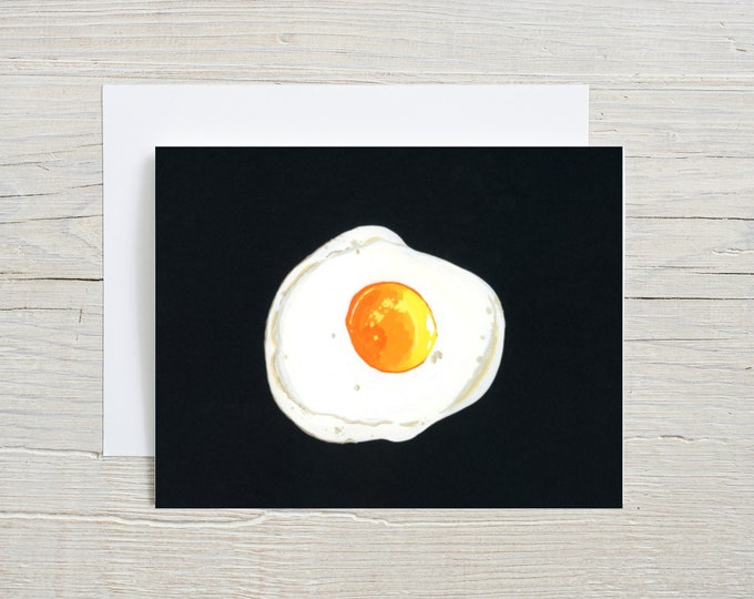 Fried Egg Note Card