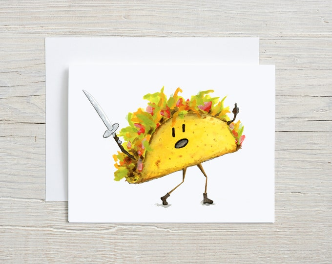 Taco Blank Note Card