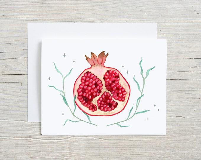 Pomegranate Note Card