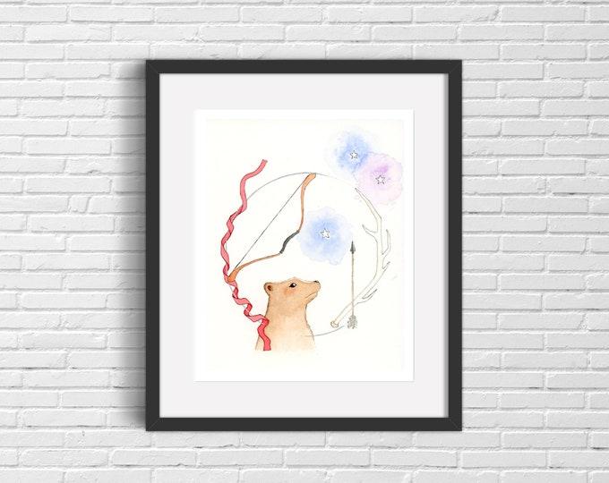 Cosmic Bear Art Print | Wall Art
