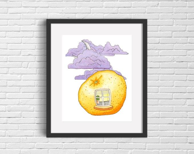 Orange Window Art Print | Wall Art