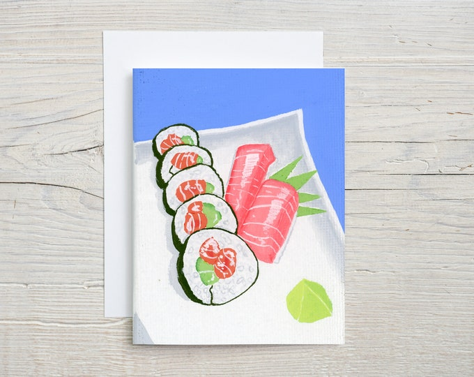 Sushi Note Card
