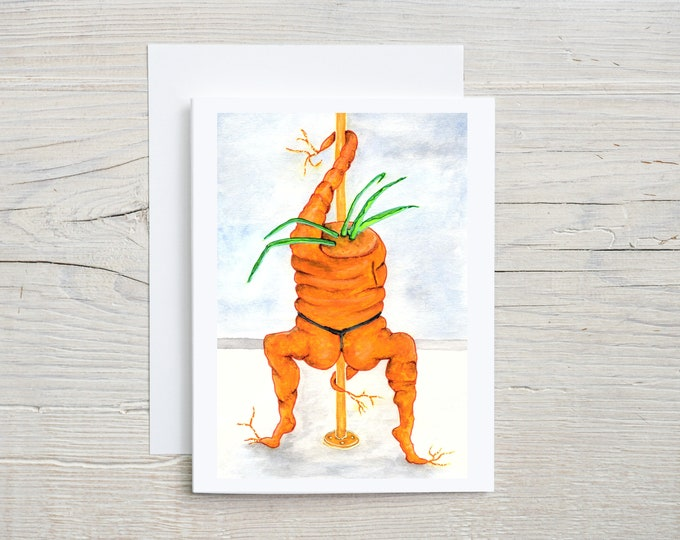 Dancing Carrot Note Card