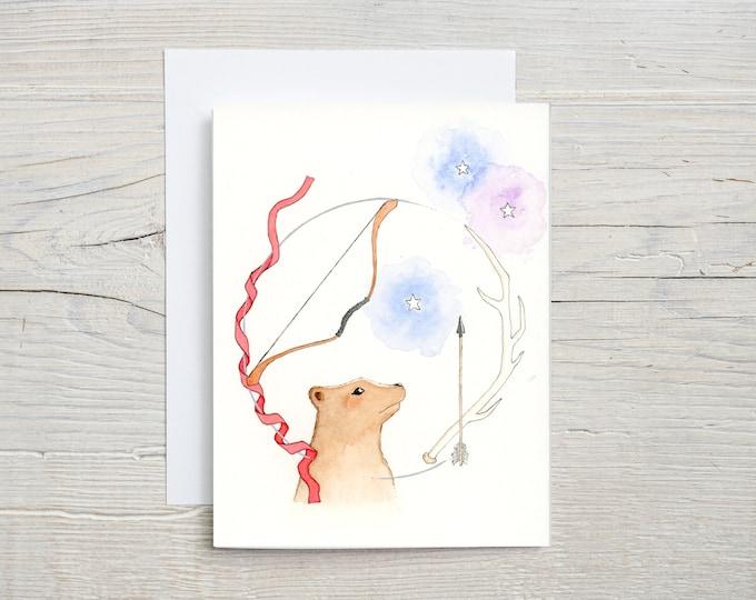 Cosmic Bear Blank Card