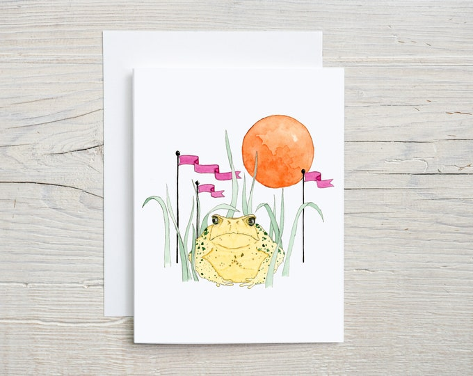 Toad and Moon Note Card