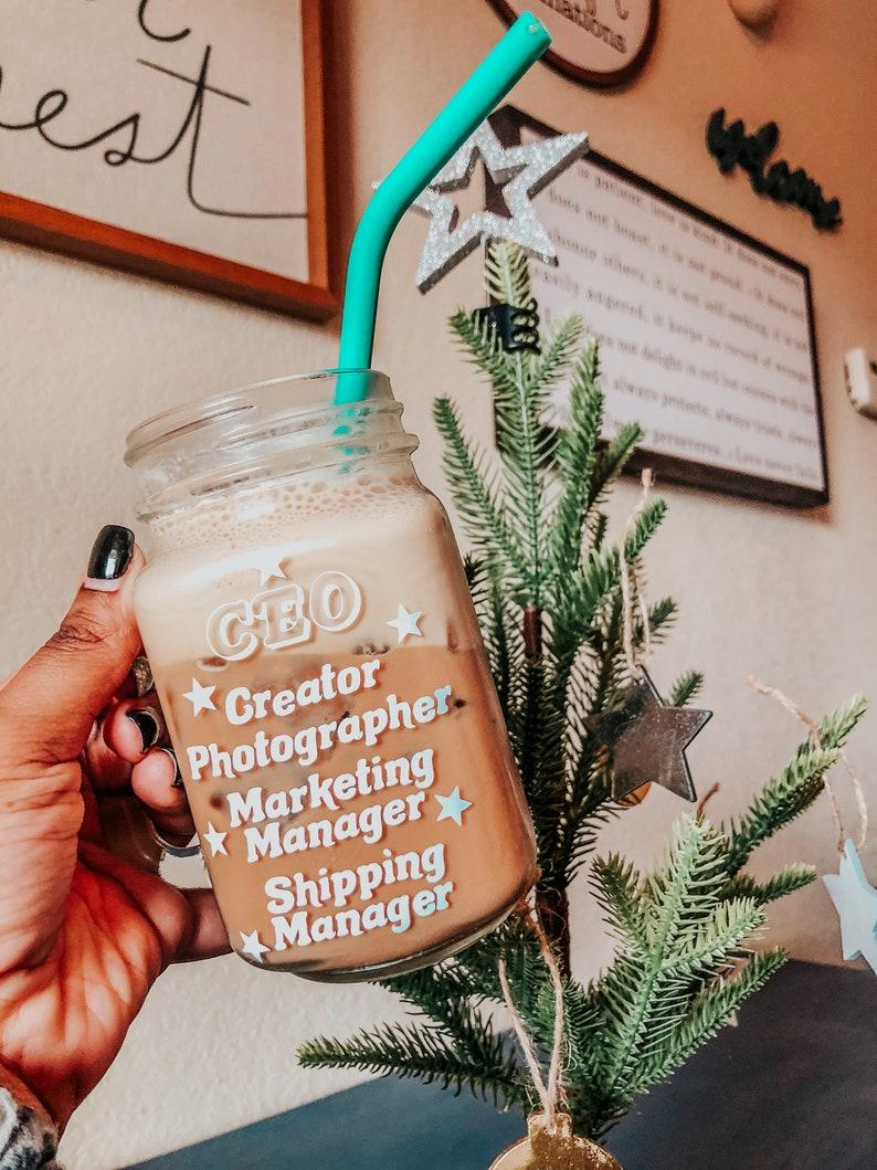 Small Business Mason Jar Mug Business owner mug CEO mug image 0