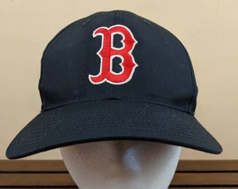 f9b3fdbe Vintage Boston RED SOX Snapback // Blue and Red // MLB